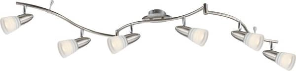 Globo 54536-6 Caleb LED Deckenleuchte 24W Nickel matt warmweiss