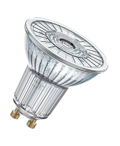 Osram GU10 LED Spot Superstar PAR16 4,5W 230Lm dimmbar weiss Glas