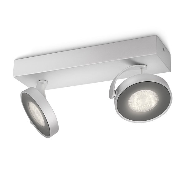 Philips myLiving Clockwork LED Deckenleuchte dimmbar 2x45W Warmweiss 531724816