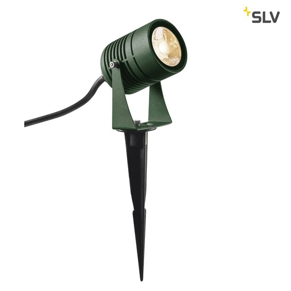 SLV 1002202 LED SPIKE LED Outdoor Erdspießleuchte grün IP55 3000K 40°