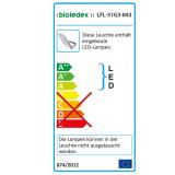 Bioledex ASTIR LED Fluter 50W 120° 4650Lm 5000K Grau