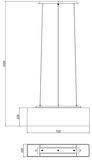 Deko-Light Pendelleuchte Forillo, E27, 3x max. 60W, Stoff, Silber, Chrom 299339