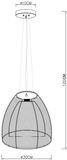 Deko-Light Pendelleuchte Filo Big Mob, E27, max. 60W, Metall, silber 342027