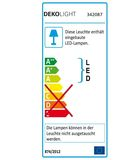 Deko-Light Pendelleuchte Elena, Warmweiß, Glas, farblos, satiniert 342087