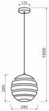Deko-Light Pendelleuchte Ankaa 280, E27, max. 40W, Metall, Edelstahl, gebürtstet 342138