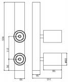 Deko-Light Deckenaufbauleuchte Klara II, Warmweiß, Alu, Weiß, matt 348043
