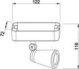 Deko-Light Deckenaufbauleuchte Leporis Linear I, GU10, max. 50W, Alu, Weiß-matt 348079