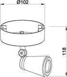 Deko-Light Deckenaufbauleuchte Leporis Round I, GU10, max. 50W, Alu, Weiß-matt 348082