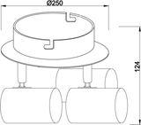 Deko-Light Deckenaufbauleuchte Indi III, GU10, 3x max. 50W, Alu, Silber 348087
