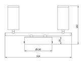 Deko-Light Deckenaufbauleuchte Becrux II, Warmweiß, Aluminium Strangpressprofil, silber 348112