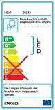 Eglo 95222 Amonde LED Wandleuchte 6W USA 60-70er Design