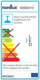Nordlux LED Pendelleuchte Artist25 16W 1209Lm grau