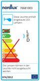 Nordlux 76681003 Mib 3 LED Wandleuchte/Deckenleuchte 2,4W Metall Schwarz