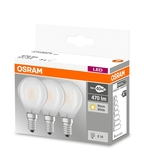 Osram 3er-Pack E14 LED Birne Base Classic 4,0W 470Lm Warmweiss