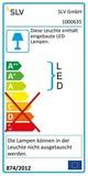 SLV 1000635 ASSO 300 LED Wandleuchte alu gebürstet weiss 2000K-3000K Dim to Warm