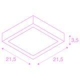 SLV 1004705 SENSER 24 CW LED Leuchte eckig weiss 4000K